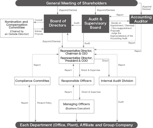 Diagram of the Governance Structure